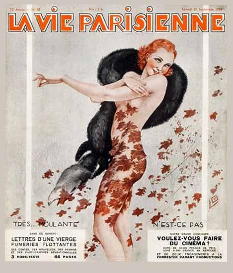 La Vie Parisienne 1934 Moulante Georges Leonnec Sex Appeal | Sex Appeal Vintage Ads and Covers 1891-1970