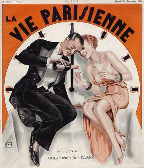 La Vie Parisienne 1934 Oublions Georges Leonnec Sex Appeal | Sex Appeal Vintage Ads and Covers 1891-1970