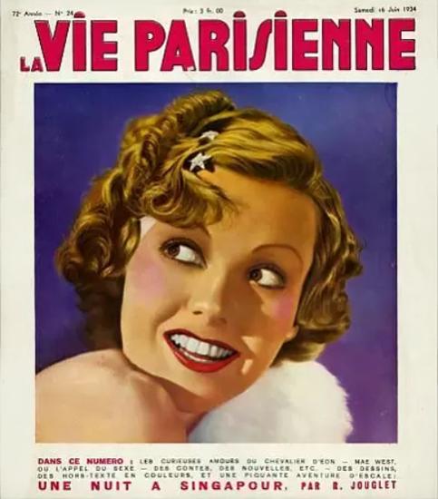 La Vie Parisienne 1934 Une Nuit A Singapour Sex Appeal | Sex Appeal Vintage Ads and Covers 1891-1970