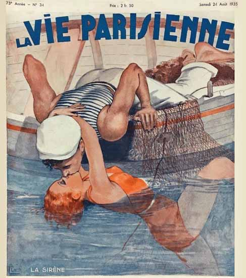La Vie Parisienne 1935 La Sirene Georges Leonnec Sex Appeal   Sex Appeal Vintage Ads and Covers 1891-1970