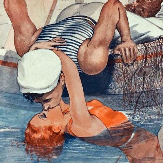 La Vie Parisienne 1935 La Sirene Georges Leonnec crop B | Best of Vintage Cover Art 1900-1970