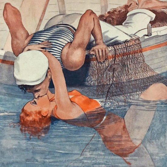 La Vie Parisienne 1935 La Sirene Georges Leonnec crop | Best of 1930s Ad and Cover Art