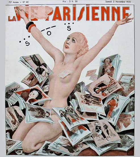 La Vie Parisienne 1935 SOS Georges Leonnec Sex Appeal | Sex Appeal Vintage Ads and Covers 1891-1970