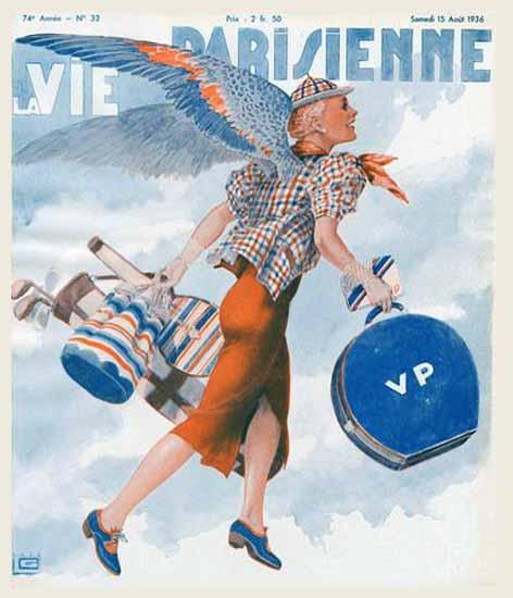 La Vie Parisienne 1936 Ailes Georges Leonnec | La Vie Parisienne Erotic Magazine Covers 1910-1939