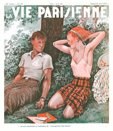 La Vie Parisienne 1936 Avril 22 Georges Leonnec Sex Appeal | Sex Appeal Vintage Ads and Covers 1891-1970