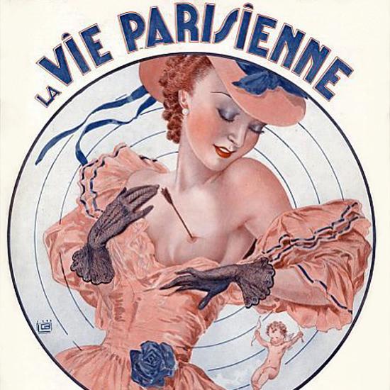 La Vie Parisienne 1936 Dans La Mille Georges Leonnec crop | Best of Vintage Cover Art 1900-1970