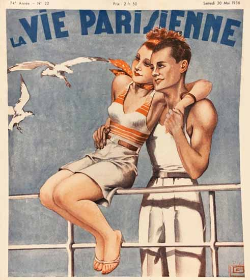 La Vie Parisienne 1936 Douce Croisiere Georges Leonnec Sex Appeal | Sex Appeal Vintage Ads and Covers 1891-1970