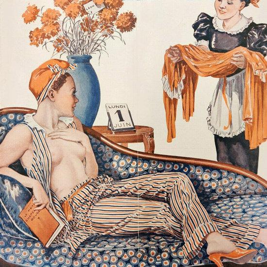 La Vie Parisienne 1936 Ensemble Georges Leonnec crop | Best of Vintage Cover Art 1900-1970