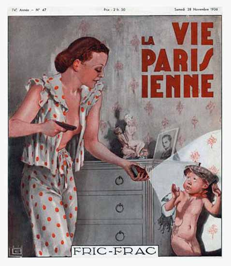 La Vie Parisienne 1936 Fric-Frac Georges Leonnec Sex Appeal | Sex Appeal Vintage Ads and Covers 1891-1970
