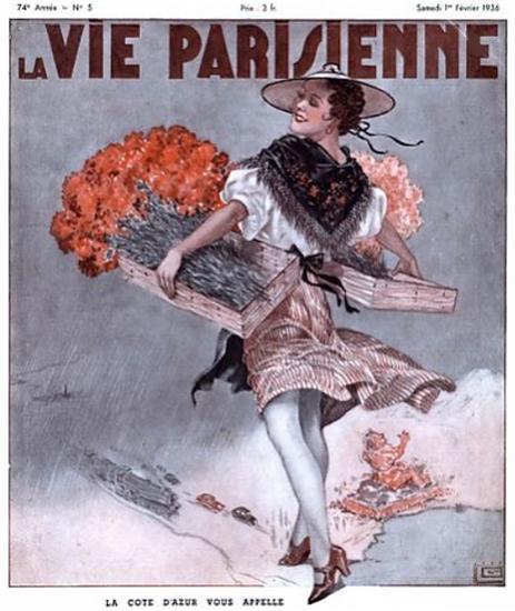 La Vie Parisienne 1936 La Cote D Azur Sex Appeal   Sex Appeal Vintage Ads and Covers 1891-1970