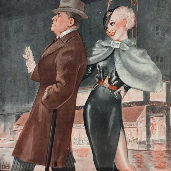 La Vie Parisienne 1936 La Crise Georges Leonnec crop   Best of Vintage Cover Art 1900-1970