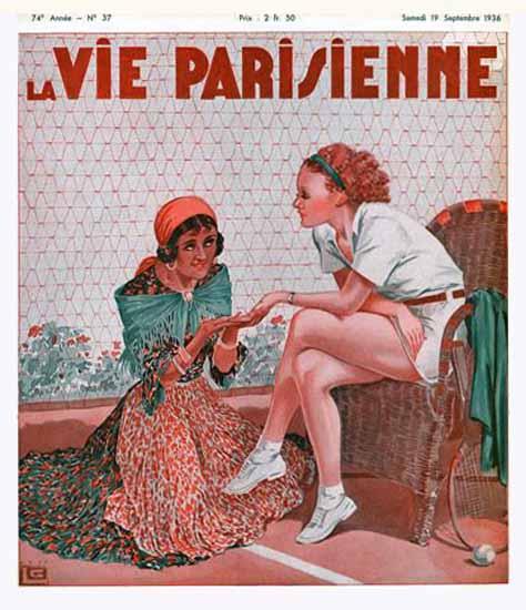 La Vie Parisienne 1936 La Ligne Georges Leonnec Sex Appeal | Sex Appeal Vintage Ads and Covers 1891-1970