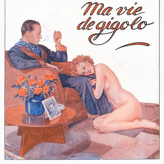 La Vie Parisienne 1936 Ma Vie De Gigolo Georges Leonnec crop | Best of Vintage Cover Art 1900-1970