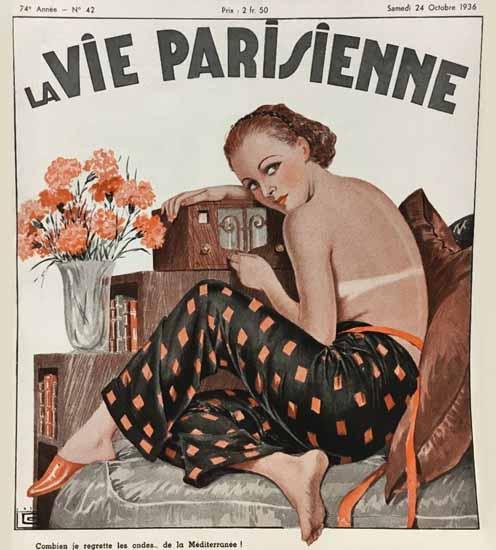 La Vie Parisienne 1936 Mediterranee Georges Leonnec Sex Appeal | Sex Appeal Vintage Ads and Covers 1891-1970