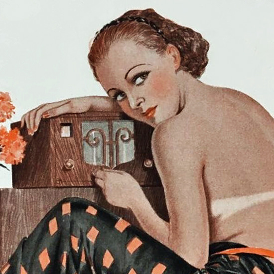 La Vie Parisienne 1936 Mediterranee Georges Leonnec crop B | Best of Vintage Cover Art 1900-1970