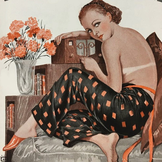 La Vie Parisienne 1936 Mediterranee Georges Leonnec crop | Best of 1930s Ad and Cover Art
