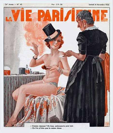 La Vie Parisienne 1936 Novembre 14 Georges Leonnec Sex Appeal | Sex Appeal Vintage Ads and Covers 1891-1970