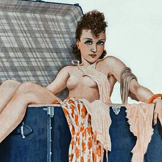 La Vie Parisienne 1936 Partir C Est Mourir Georges Leonnec crop B   Best of Vintage Cover Art 1900-1970