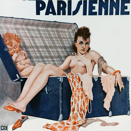 La Vie Parisienne 1936 Partir C Est Mourir Georges Leonnec crop | Best of Vintage Cover Art 1900-1970