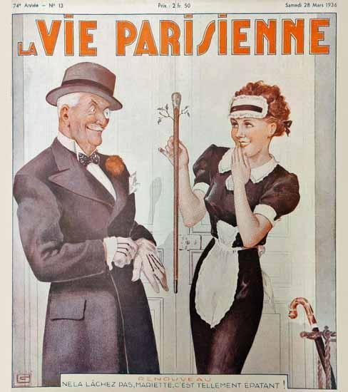 La Vie Parisienne 1936 Renouveau Georges Leonnec Sex Appeal | Sex Appeal Vintage Ads and Covers 1891-1970