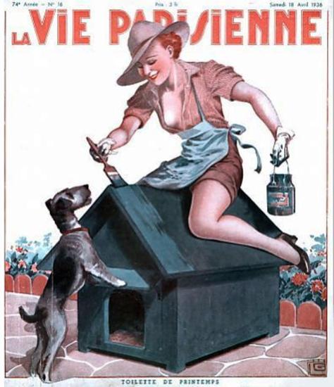 La Vie Parisienne 1936 Toilette De Printemps Sex Appeal   Sex Appeal Vintage Ads and Covers 1891-1970