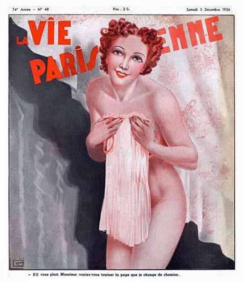 La Vie Parisienne 1936 Tourner La Page Georges Leonnec Sex Appeal | Sex Appeal Vintage Ads and Covers 1891-1970