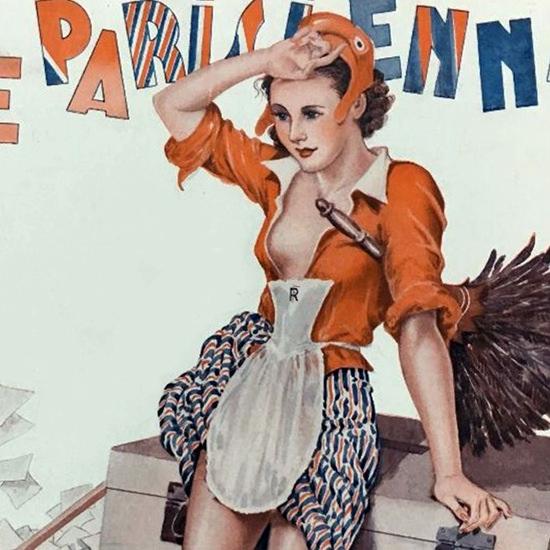 La Vie Parisienne 1936 Tous Les Quatre Ans Georges Leonnec crop B   Best of Vintage Cover Art 1900-1970