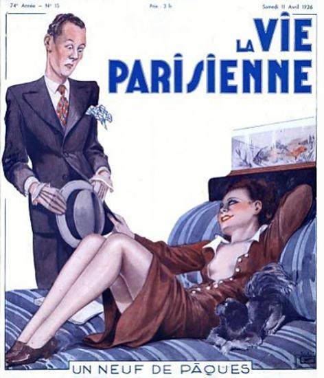 La Vie Parisienne 1936 Un Neuf De Paques Sex Appeal | Sex Appeal Vintage Ads and Covers 1891-1970