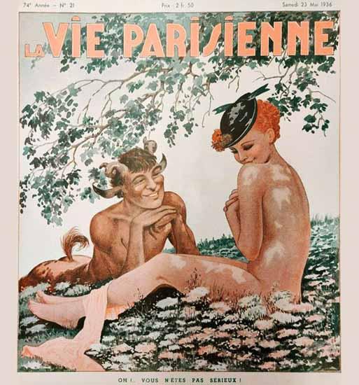 La Vie Parisienne 1936 Vous N Etes Pas Serieux Sex Appeal | Sex Appeal Vintage Ads and Covers 1891-1970