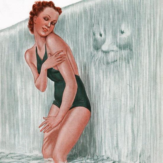 La Vie Parisienne 1937 Ca Chatouille Georges Leonnec crop | Best of 1930s Ad and Cover Art
