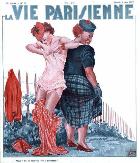 La Vie Parisienne 1937 Hanneton Georges Leonnec Sex Appeal   Sex Appeal Vintage Ads and Covers 1891-1970