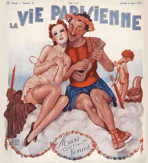 La Vie Parisienne 1937 Mars et Venus Georges Leonnec Sex Appeal | Sex Appeal Vintage Ads and Covers 1891-1970