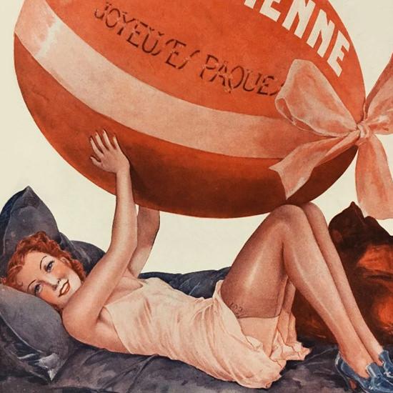 La Vie Parisienne 1937 Paques Georges Leonnec crop | Best of Vintage Cover Art 1900-1970
