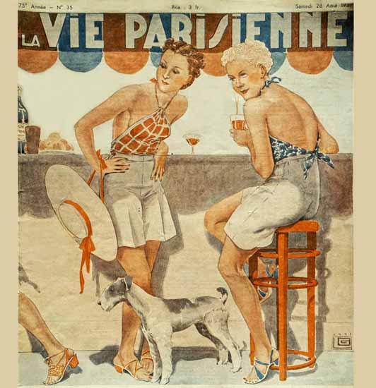 La Vie Parisienne 1937 Quelle Tenue Georges Leonnec Sex Appeal | Sex Appeal Vintage Ads and Covers 1891-1970
