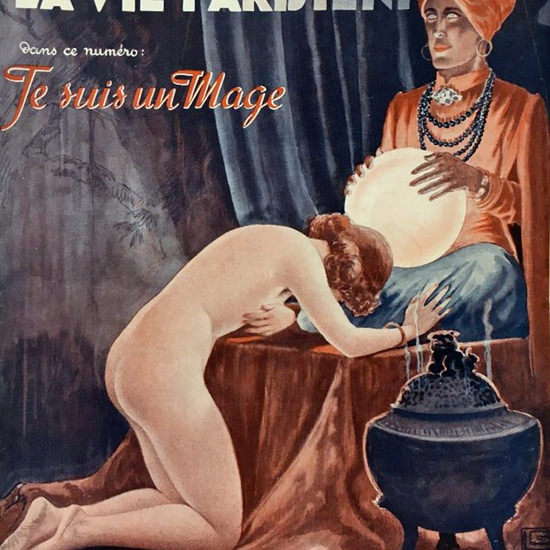 La Vie Parisienne 1937 Un Mage Georges Leonnec crop | Best of Vintage Cover Art 1900-1970