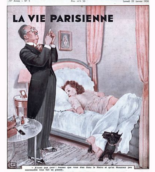 La Vie Parisienne 1938 Janvier 29 Sex Appeal | Sex Appeal Vintage Ads and Covers 1891-1970
