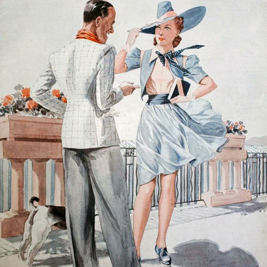 La Vie Parisienne 1939 Du Casino Georges Leonnec crop | Best of 1930s Ad and Cover Art