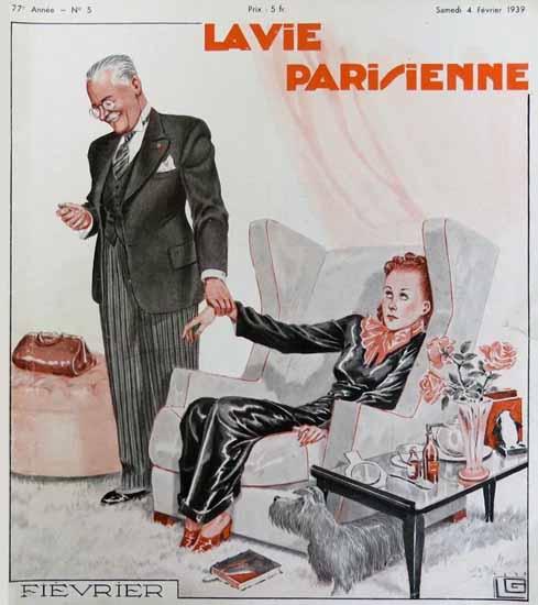 La Vie Parisienne 1939 Fievrier Georges Leonnec Sex Appeal   Sex Appeal Vintage Ads and Covers 1891-1970