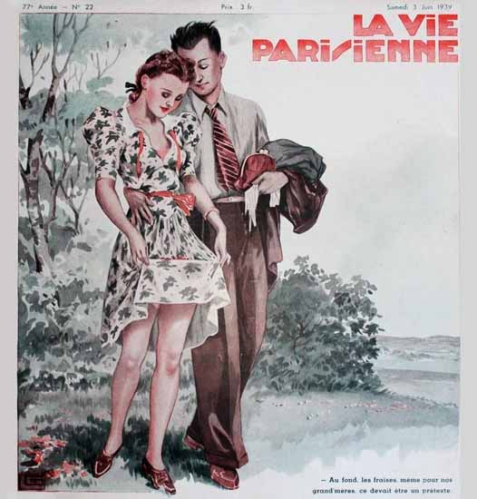 La Vie Parisienne 1939 Fraises Georges Leonnec Sex Appeal | Sex Appeal Vintage Ads and Covers 1891-1970