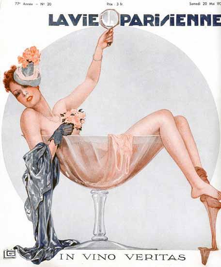 La Vie Parisienne 1939 In Vino Veritas Sex Appeal | Sex Appeal Vintage Ads and Covers 1891-1970