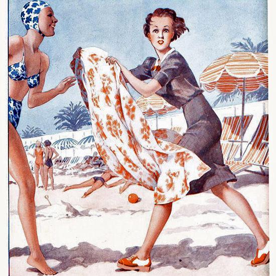 La Vie Parisienne 1939 Juillet 29 Georges Leonnec crop | Best of Vintage Cover Art 1900-1970