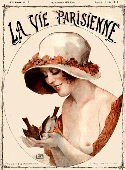 La Vie Parisienne 1919 Nude Paris France | Sex Appeal Vintage Ads and Covers 1891-1970