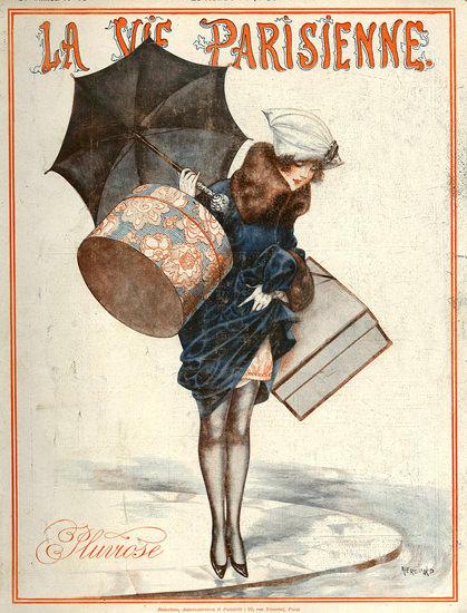 La Vie Parisienne Pluviose Paris France | Sex Appeal Vintage Ads and Covers 1891-1970