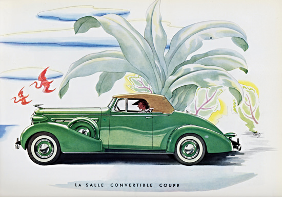 LaSalle Convertible Coupe 1936 Green | Vintage Cars 1891-1970