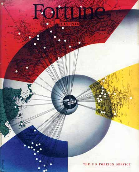 Ladislav Sutnar Fortune Magazine July 1946 Copyright | Fortune Magazine Graphic Art Covers 1930-1959