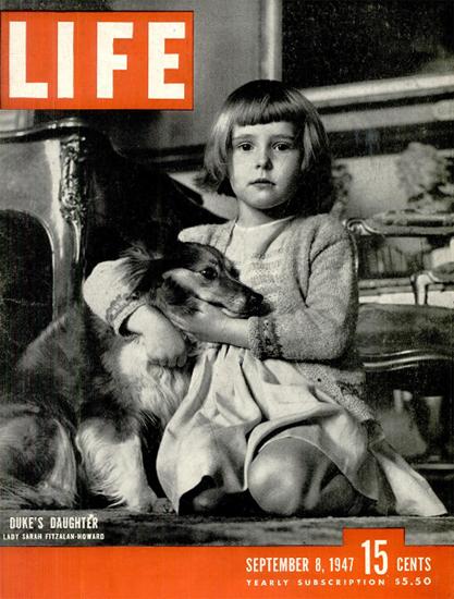 Lady Sarah Fitzalan-Howard 8 Sep 1947 Copyright Life Magazine   Life Magazine BW Photo Covers 1936-1970