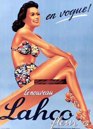 Lahco Fleur En Vogue Swim Suits Switzerland | Sex Appeal Vintage Ads and Covers 1891-1970