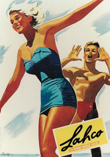 Lahco La Grande Marque Suisse 1954 Swim Suits | Sex Appeal Vintage Ads and Covers 1891-1970