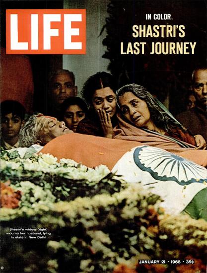 Lal Bahadur Shastri Burial New Delhi 21 Jan 1966 Copyright Life Magazine | Life Magazine Color Photo Covers 1937-1970