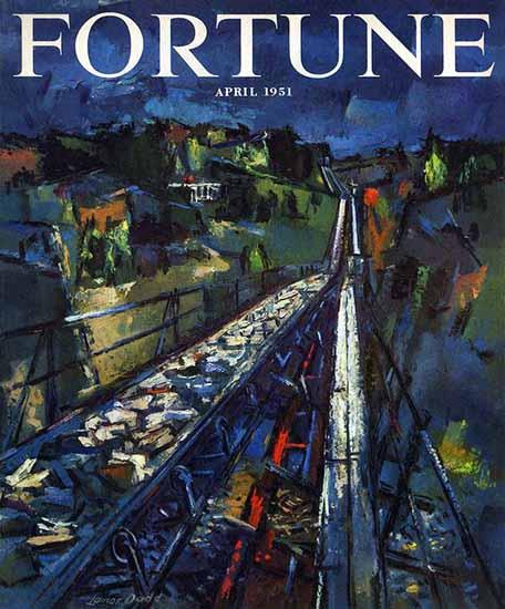 Lamar Dodd Fortune Magazine April 1951 Copyright | Fortune Magazine Graphic Art Covers 1930-1959